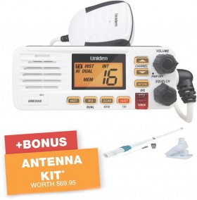 Uniden-25W-VHF-Marine-Radio-UM355 on sale