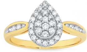 9ct-Gold-Diamond-Ring on sale
