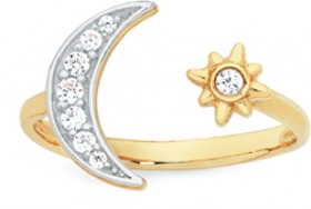9ct-Gold-Cubic-Zirconia-Toe-Ring on sale
