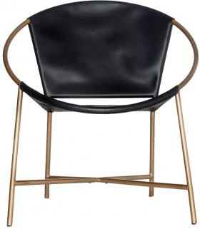 Dakota-Occasional-Chair-in-Black-Gold-Colour on sale