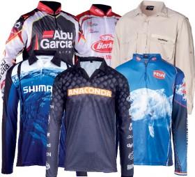 All-Fishing-Shirts-by-Shimano-Berkley-Ugly-Stik-Abu-Garcia-Penn on sale