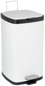 30-off-Lock-Stock-Barrel-Pedal-Bin-Square-White-20L on sale