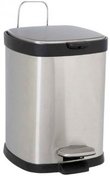 30-off-Lock-Stock-Barrel-Pedal-Bin-Square-Silver-6L on sale