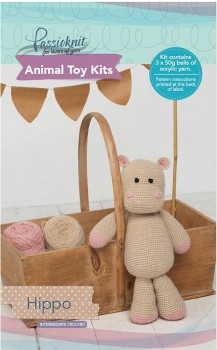 Passioknit-Animal-Toy-Kit-150g-Hippo on sale