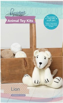 Passioknit-Animal-Toy-Kit-150g-Lion on sale
