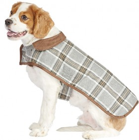 Harmony-Quilted-Check-Dog-Coat on sale