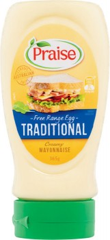 Praise-Squeezy-Mayonnaise-365g-410g on sale
