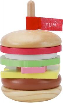 Wooden-Hamburger-Set on sale