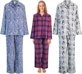 Womens-Print-Flannel-Pyjamas on sale
