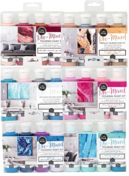 American-Crafts-Pre-Mixed-Pouring-Paint-Kits-4pk on sale