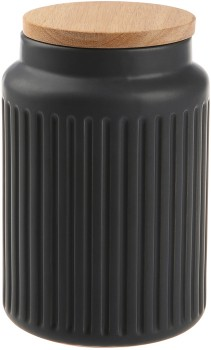 Large-Grey-Fluted-Canister on sale