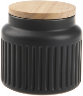 Small-Grey-Fluted-Canister on sale