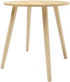 Oak-Look-Round-Side-Table on sale