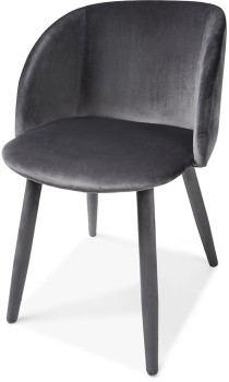 Grey-Velvet-Occasional-Chair on sale