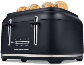 4-Slice-Matte-Black-Toaster on sale