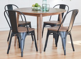 Tara-5-Piece-Dining-Set-with-Replica-Bamboo-Tolix-Chairs on sale