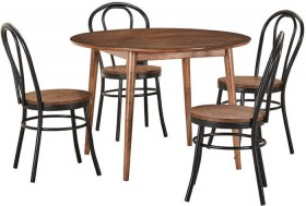 Tara-5-Piece-Dining-Set-with-Replica-Bentwood-Chairs on sale