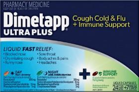 Dimetapp-Ultra-Plus-Cough-Cold-Flu-Immune-Support-24-7-Liquid-Capsules on sale