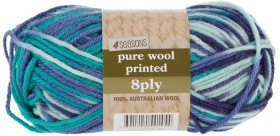 40-off-4-Seasons-Pure-Wool-Prints-8ply-50g on sale
