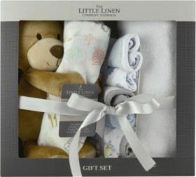 The-Little-Linen-Company-Bear-Baby-Gift-Set on sale