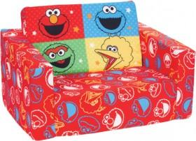 NEW-Sesame-Street-Flip-Out-Kids-Sofa on sale