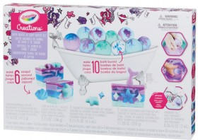 NEW-Crayola-Creations-Bath-Burst-and-Soap-Making-Super-Set on sale