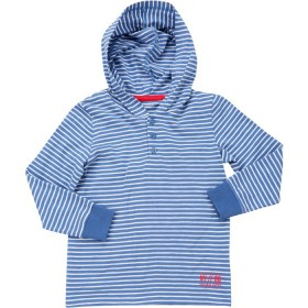 B-Collection-Hooded-Stripe-Tee on sale