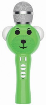 Laser-Kids-Bluetooth-Karaoke-Microphone-Green on sale