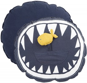 Kids-Jaws-Cushions-by-Pillow-Talk on sale