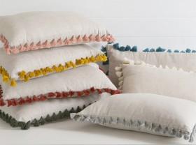 Tassel-Linen-Oblong-Cushion-by-M.U.S.E on sale