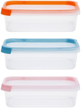 3-Pack-680ml-Rectangular-Coloured-Lid-Containers on sale