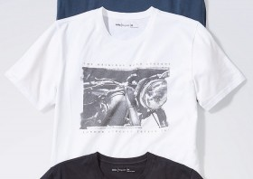 Mens-Print-Crew-Tee-White on sale