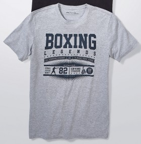 Mens-Print-Crew-Tee-Grey on sale