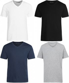 Mens-Plain-V-Neck-Tees on sale
