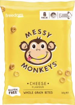 Freedom-Foods-Messy-Monkeys-Whole-Grain-Bites-8-Pack-160g on sale