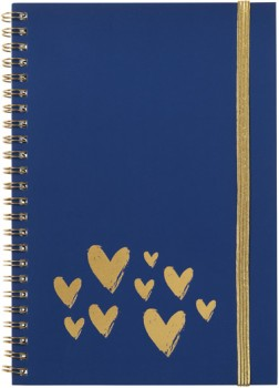 A5-Spiral-Notebook-Gold-Elastic-Band-120-Pages on sale