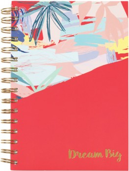 A5-3-Subject-Notebook-270-Pages-Coral on sale
