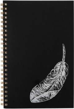 A5-Spiral-Notebook-120-Pages-BlackSilver on sale