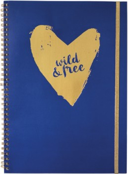 A4-Spiral-Notebook-120-Pages-Gold-Elastic-Band on sale