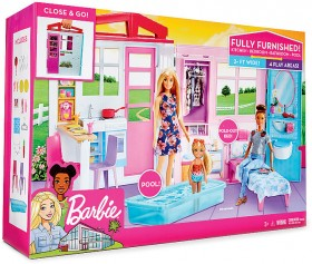 Barbie-Fully-Furnished-Dollhouse on sale