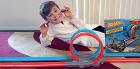 NEW-Hot-Wheels-Double-Loop-Dash-Playset on sale