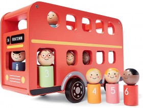 Wooden-Double-Deck-Bus-Playset on sale