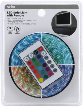 Colour-LED-Strip-Lights-with-Remote on sale