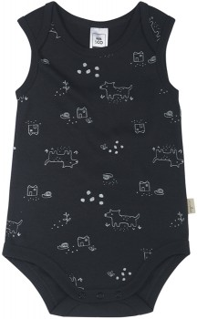 Baby-Organic-Sleeveless-Bodysuit-Black on sale