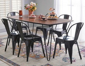 NEW-Jade-7-Piece-Dining-Set-with-Replica-Tolix-Chairs on sale