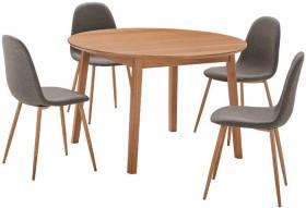 Niva-5-Piece-Dining-Set-with-Samba-Chairs on sale