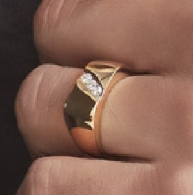 9ct-Gold-Mens-Diamond-Ring on sale