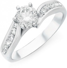 18ct-White-Gold-Diamond-Shoulder-Solitaire-Ring on sale