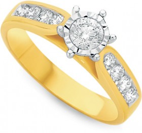 18ct-Gold-Diamond-Shoulder-Solitaire-Ring on sale
