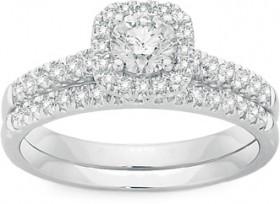 18ct-White-Gold-Diamond-Bridal-Set on sale